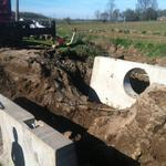 Easton Construction installs a new culvert.